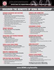 Download SEMA Membership Benefits Flyer