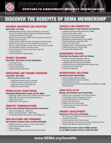 Download SEMA Membership Benefits Flyer