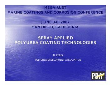 Spray Applied Polyurea Coating Technologies - NST Center