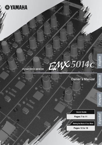 EMX5014C Owner's Manual