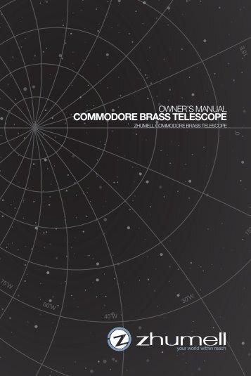 COMMODORE BRASS TELESCOPE - Telescopes.com