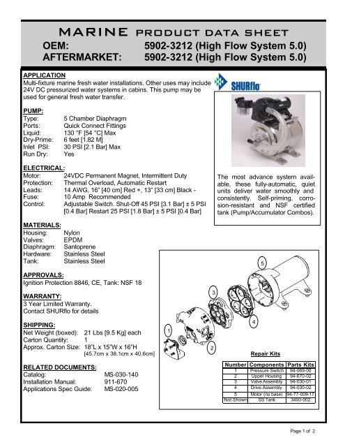 pds-Extreme Problaster Acc  Combo 24v 5902-3212 pdf - SHURflo
