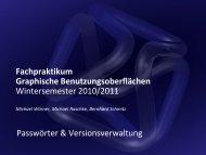 Folien - Institut für Visualisierung und Interaktive Systeme (VIS)
