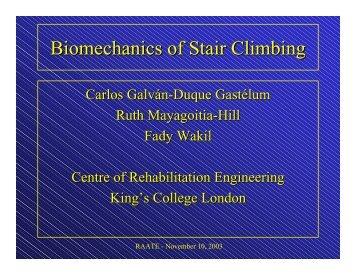 Biomechanics of Stair Climbing - Xsens
