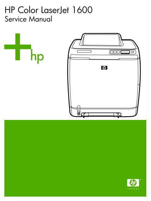 Hp color laserjet 1600 printer with manual, cd &.
