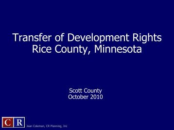 Transfer of Development Rights Rice County ... - Scott County
