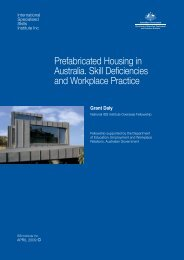 Prefabricated Housing in Australia. Skill Deficiencies and Workplace ...