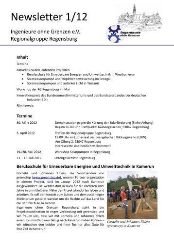 Newsletter 1/12 - Ingenieure ohne Grenzen