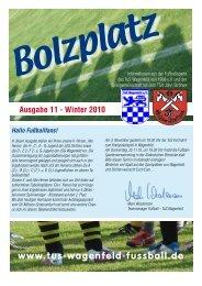 Ausgabe 11 - Winter 2010 Hallo Fußballfans! - TuS Wagenfeld