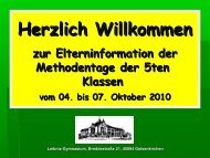 Methodentage der 5. Klassen - Leibniz-Gymnasium