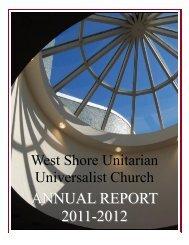 Annual Report 2012.pub - West Shore Unitarian Universalist Church