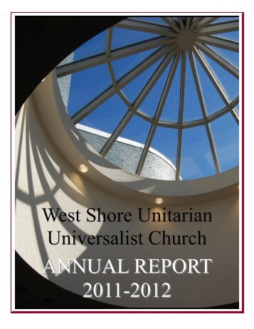 Annual Report 2012.pub - West Shore Unitarian Universalist Church