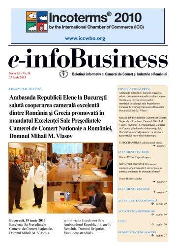 e-infoBusiness nr. 24/27.06.2013 - Camera de Comert si Industrie a ...