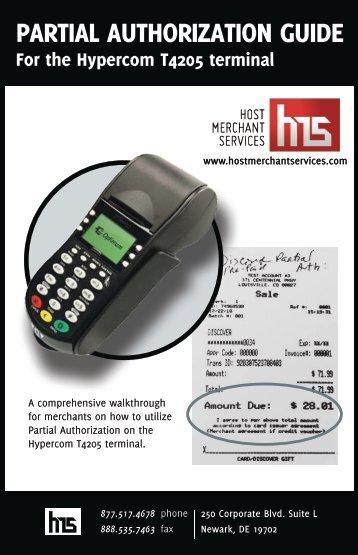 PARTIAL AUTHORIZATION GUIDE - Host Merchant Services