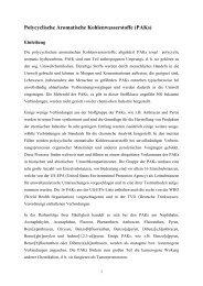 Polycyclische Aromatische Kohlenwasserstoffe (PAKs)