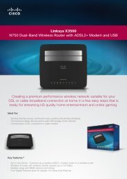Linksys X3500 N750 Dual-Band Wireless Router with ... - MgManager