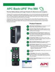 APC Back-UPS Pro 280/420/650 User's Manual - APC Media