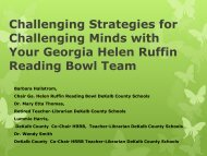 Challenging Strategies for Challenging Minds with Your Georgia ...