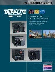Tripp Lite PowerVerter APS Inverter Charger Brochure 230V English ...