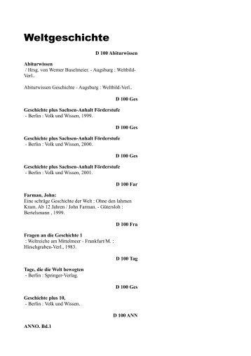 Weltgeschichte - Die Bibliothek von Ninive