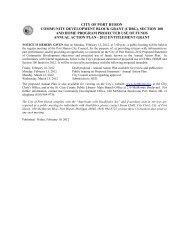 city of port huron community development block grant (cdbg ...