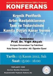 KONFERANS - Erciyes Üniversitesi Tıp Fakültesi