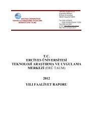 2012 yılı faaliyet raporu - teknoloji araştırma ve uygulama merkezi