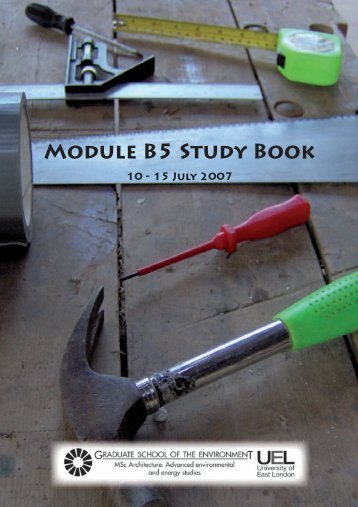 Module B5 Study Book - the Graduate School of the Environment