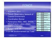 Présentation du projet d'Equipex-2 FONCE