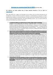 Annexe au communiqué de la SFEN du 21 nov. 2012