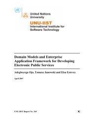 Domain Models and Enterprise Application Framework for ...