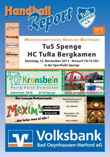 Pro Handball in Spenge – Freunde & Partner sind dabei - TuS Spenge