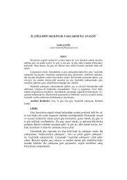 İç Göçlerin Seçkinlik Yaklaşımı ile Analizi - Sosyal Bilimler Enstitüsü