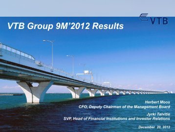 9M`2012 IFRS Results Presentation - VTB