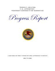 Todd p. graves U.S. Attorney Western District of Missouri - Insurance ...