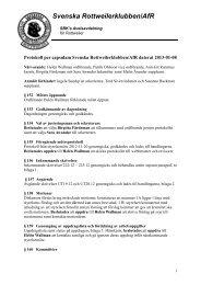 Protokoll_styrelsen - Svenska Rottweilerklubben / AfR