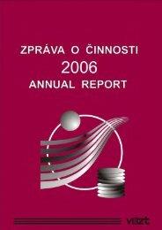 Zpráva o činnosti v roce 2006 (10MB) - SVT