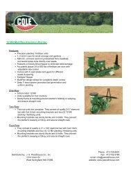 12 MX Multiflex Precision Planter - JS Woodhouse