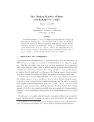 The Binding Number of Trees and K(1,3)-free Graphs - CiteSeerX