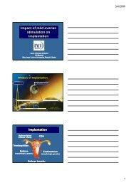 Impact of mild ovarian stimulation on implantation Impact of ... - eshre