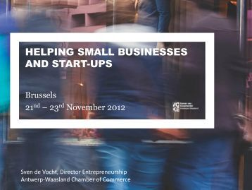helping small businesses and start-ups - Eurochambres Academy