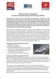 World Touring Car Championship - Slovakia Ring