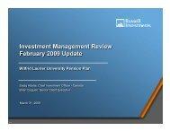 1st Quarter Investment Report - Wilfrid Laurier University