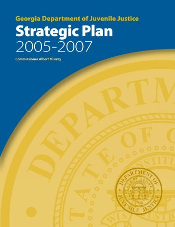 Strategic Plan 2005-2007 - Georgia Department of Juvenile Justice