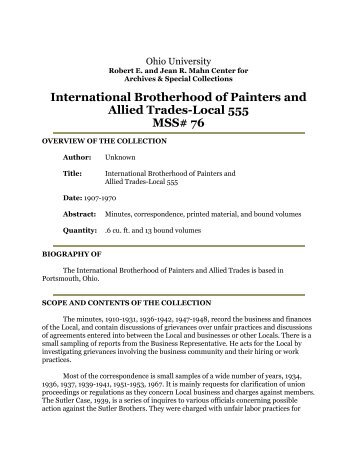 International Brotherhood of Painters and Allied Trades-Local 555 ...