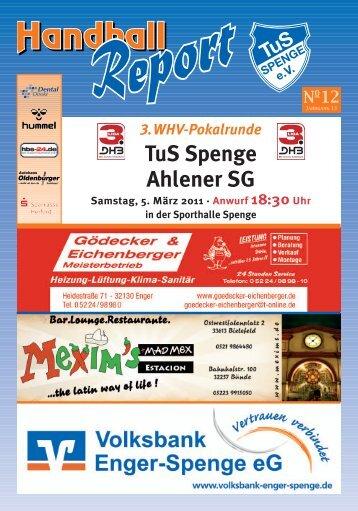 3.WHV-Pokalrunde TuS Spenge Ahlener SG