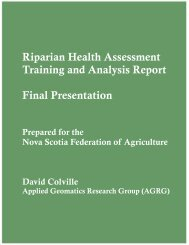 2009 Workshop Presentation - Nova Scotia Federation of Agriculture