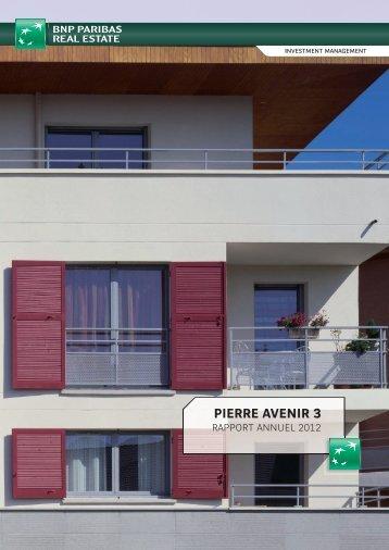 Rapport annuel - Pierre Avenir 3 - 2012 - BNP Paribas REIM