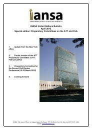 IANSA United Nations Bulletin April 2012 Special edition ...