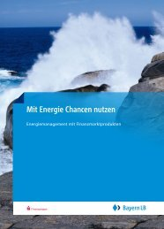 Mit Energie Chancen nutzen - BayernLB